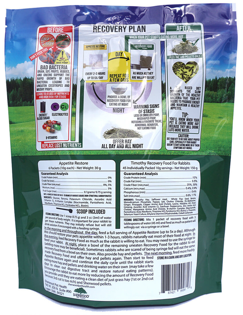 Bulk Recovery Food and/or Emergency Kits for Rabbits