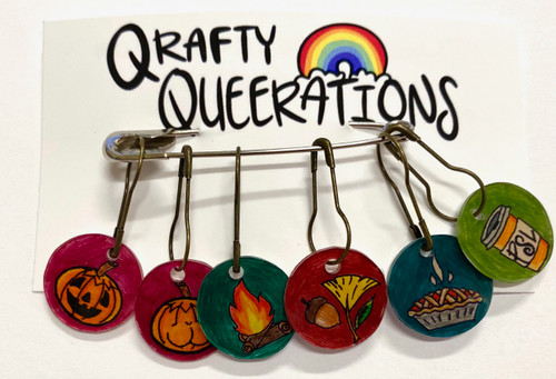 Qrafty Queerations Stitch Marker Set