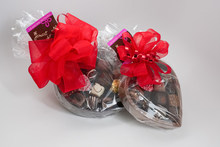 Solid Chocolate Filled Heart Boxes
