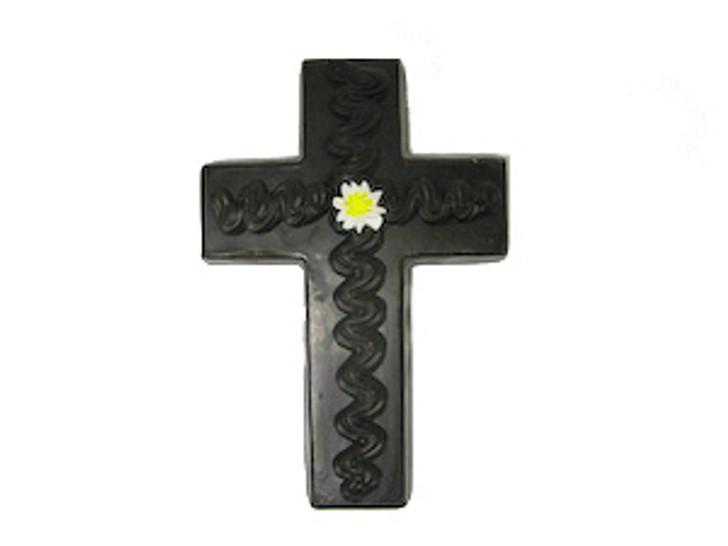 Flat solid hand-decorated Cross