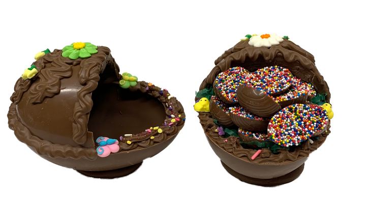 Chocolate Open Easter Eggs