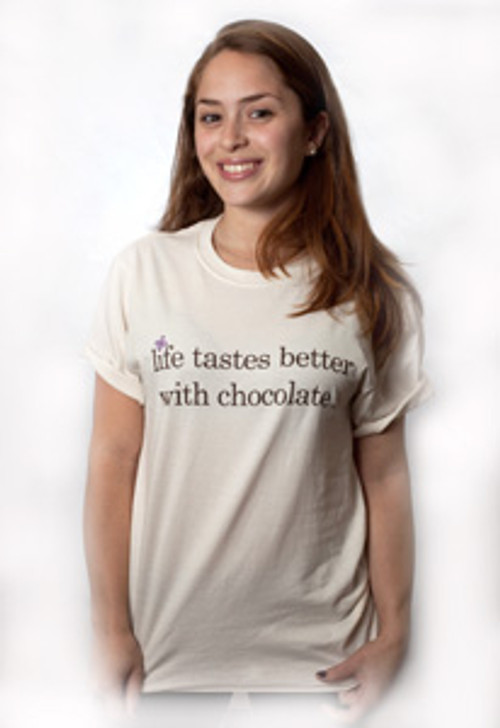 Life Tastes Better with Chocolate-T-shirt