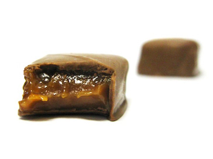 Old Fashioned  Caramel Squares: The original. On day 1 we cook and pour it to set.  On day 2 we cut and hand-dip each piece. Available in milk or dark chocolate.