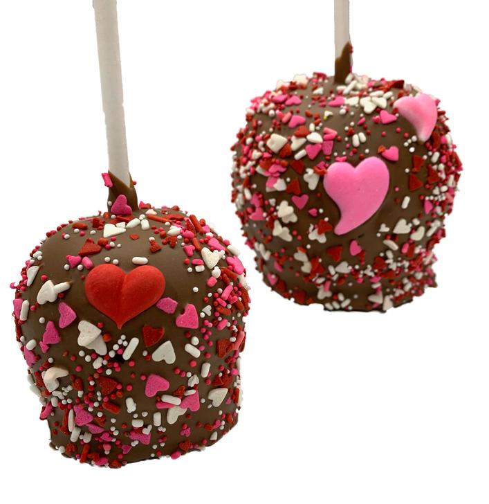 Valentine's Day Caramel Apples