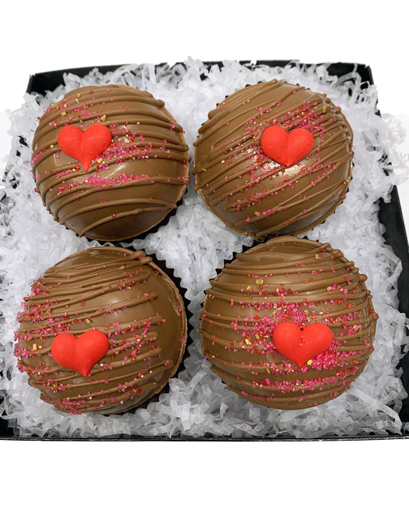 Milk Chocolate Valentines Hot Chocolate Bomb Gift Box