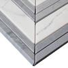 Bianco Carrara Chevron Mosaic Tile with Bardiglio Gray Strips Polished