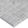 Italian White Carrera Marble Bianco Carrara 5/8x5/8 Mosaic Tile Honed