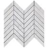 Carrara Marble 1x4 Chevron Mosaic Tile Honed
