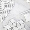 Carrara Marble 1x4 Chevron Mosaic Tile Polished