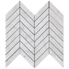 Carrara Marble 1x4 Chevron Mosaic Tile Polished
