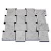 White Carrera Marble Bianco Carrara Basketweave Mosaic Tile with Nero Black Dots Honed