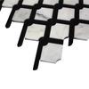 White Carrera Rope Design Mosaic Tile Polished
