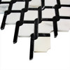 Calcutta Gold Marble Rope Design with Black Strips Honed