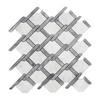 Carrara Marble Rope Design Mosaic Tile Polished