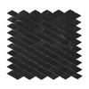 Nero Marquina Black Marble Diamond Mosaic Tile Honed