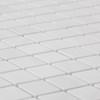 Bianco Dolomite Marble Diamond Mosaic Tile Honed