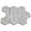 Italian White Carrera Marble Bianco Carrara Rhombus 3D Diamond Mosaic Tile Honed