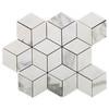 Calacatta Gold Italian Marble Rhombus 3D Cube Diamond Mosaic Tile Honed