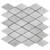 Carrara White Italian Marble Large Diamond Mosaic Tile Honed