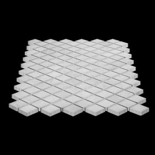 Statuary Crystal Marble Italian White Statuario Diamond Mosaic Tile Polished