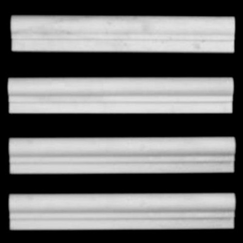 Statuary Crystal Marble Italian White Statuario Ogee 1 Chairrail Molding Polished