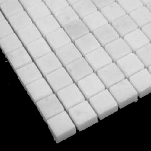 Statuary Crystal Marble Italian White Statuario 5/8x5/8 Mosaic Tile Polished