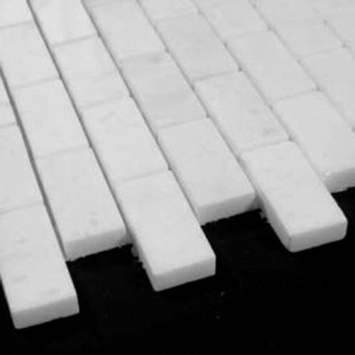 Statuary Crystal Marble Italian White Statuario 1x2 Mosaic Tile Polished