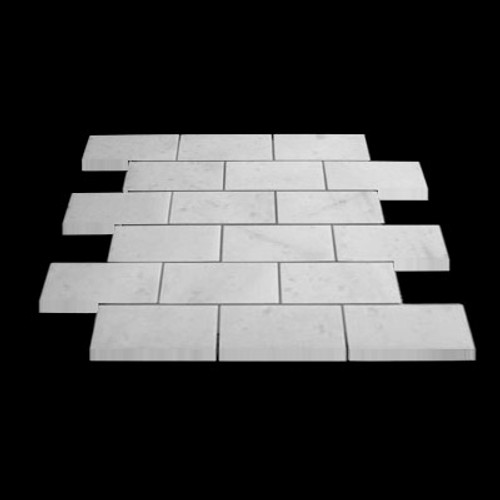 Statuary Crystal Marble Italian White Statuario 2x4 Mosaic Tile Polished