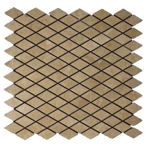 Crema Marfil Marble Diamond Mosaic Tile Polished