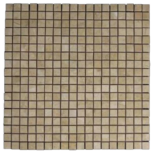Crema Marfil Marble 5/8x5/8 Mosaic Tile Polished