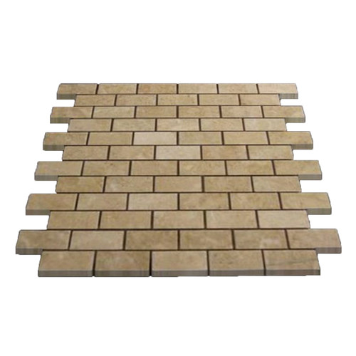 Crema Marfil Marble 1x2 Mosaic Tile Polished