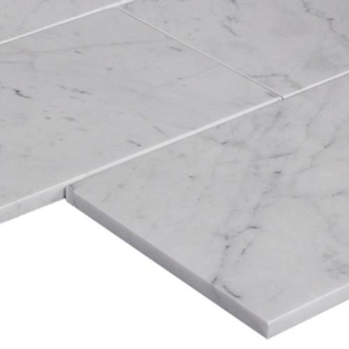 Italian White Carrara Marble 12x24 Marble Tile Honed