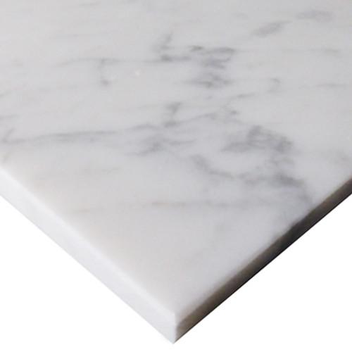 Italian White Carrera Marble Bianco Carrara 4x12 Marble Tile Honed
