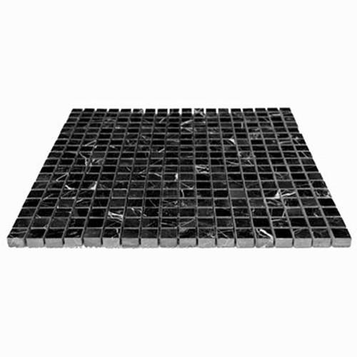 Nero Marquina Black Marble 5/8x5/8 Mosaic Tile Polished