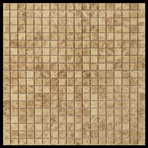 Light Emperador Marble 5/8x5/8 Mosaic Tile Polished