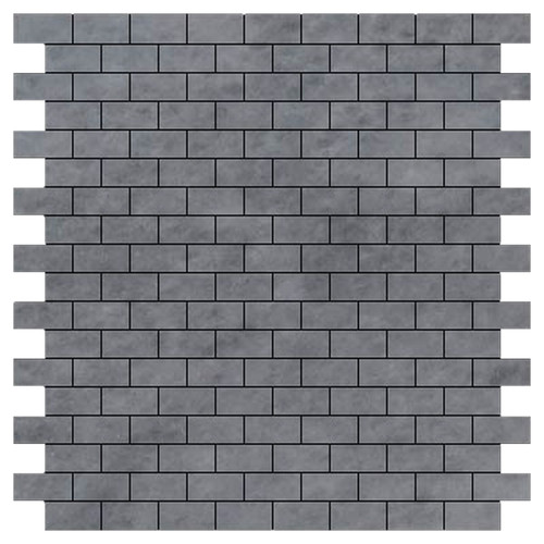 Bardiglio Gray Marble Mini Brick Mosaic Tile Polished