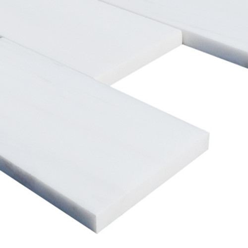 3x6  Bianco Dolomiti Marble Subway Tile Polished