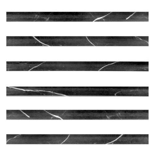 Nero MarquinaNero Marquina Black Marble Bullnose Pencil Molding Polished  Black Marble Bullnose Pencil Molding Polished