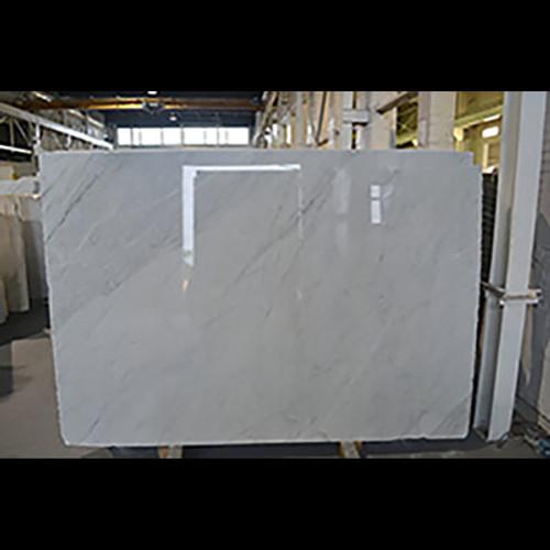 "Italian White Carrera Marble Bianco Carrara 1 1/4"" Thickness Slab Honed"