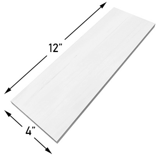Bianco Dolomiti Marble 4x12 Tile Polished