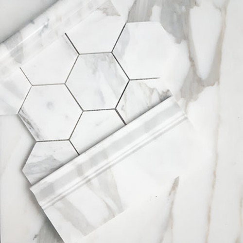 Calacatta Gold Italian Marble 12x12 Tile Honed