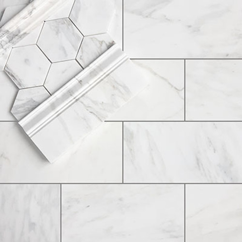 Calacatta Gold Marble 6x12 Tile Honed