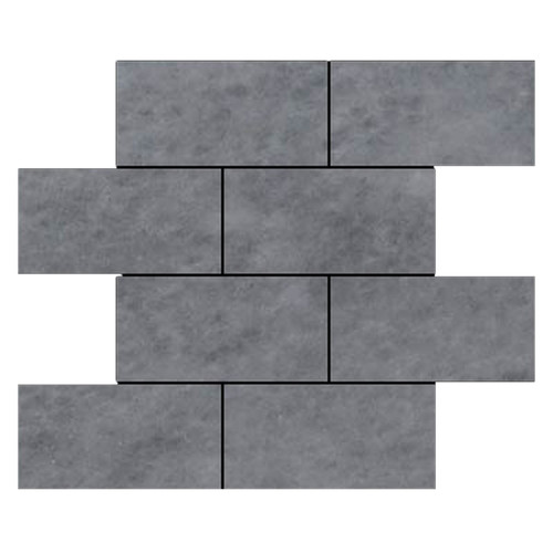 Bardiglio Gray Marble 6x12 Marble Tile Honed