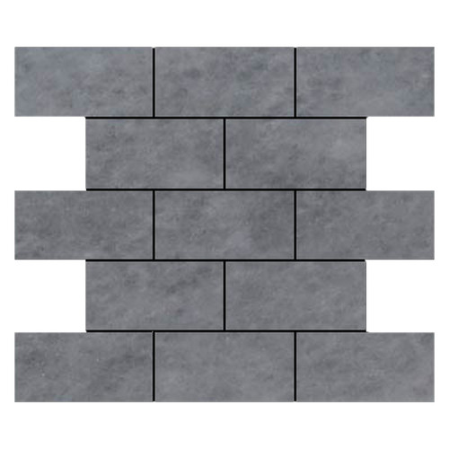 Bardiglio Gray Marble 3x6 Marble Tile Honed