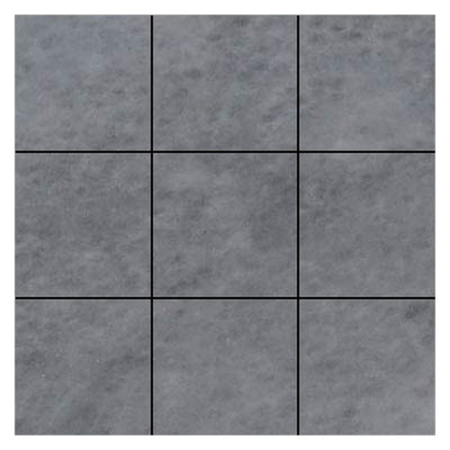 Bardiglio Gray Marble 4x4 Marble Tile Honed