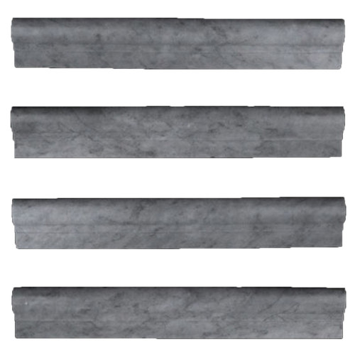 Bardiglio Gray Marble Ogee 1 Chairrail Molding Honed