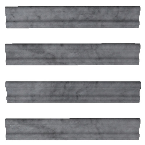 Bardiglio Gray Marble Crown Molding Honed