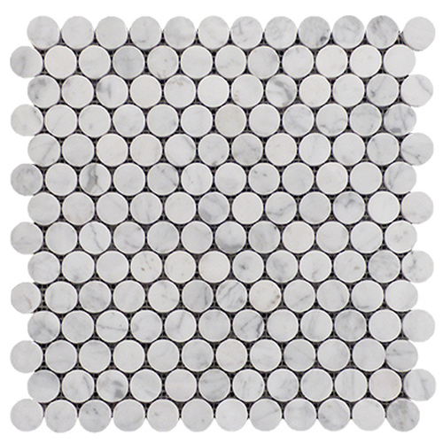 "1"" Penny Rounds Mosaic Tile Honed"