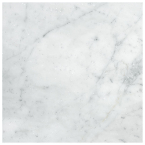 Carrara Marble Italian White Bianco Carrera 24x24 Marble Tile Polished