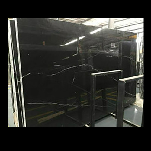"Nero Marquina Black Marble 3/4"" Thickness Slab Polished"